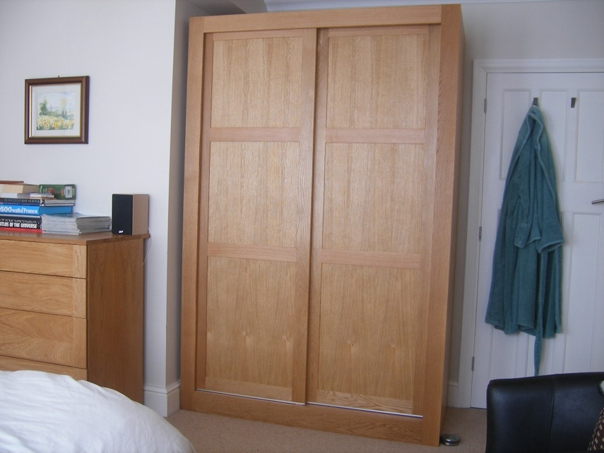 Free Standing Oak Wardrobes nicely with Double Hanging Rail For Wardrobe (Image 11 of 30)