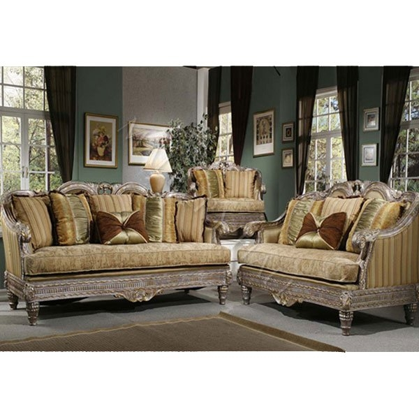 French Tapestry Upholstery Fabric Distressed Trim Gold Fabric well pertaining to Traditional Fabric Sofas (Image 4 of 20)