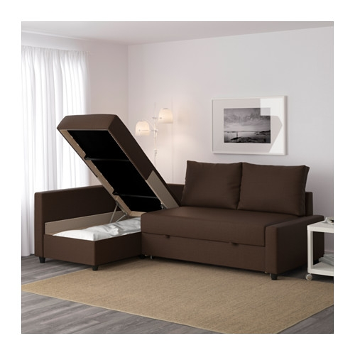 Friheten Corner Sofa Bed With Storage Skiftebo Brown Ikea good with regard to Corner Sofa Bed With Storage Ikea (Image 8 of 20)