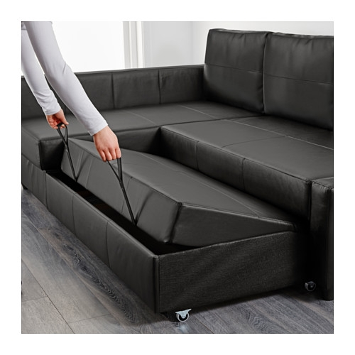 Friheten Corner Sofa Bed With Storage Skiftebo Dark Gray Ikea good for Corner Couch Bed (Image 9 of 20)