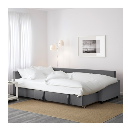Friheten Corner Sofa Bed With Storage Skiftebo Dark Grey Ikea good intended for Corner Sofa Bed With Storage Ikea (Image 13 of 20)
