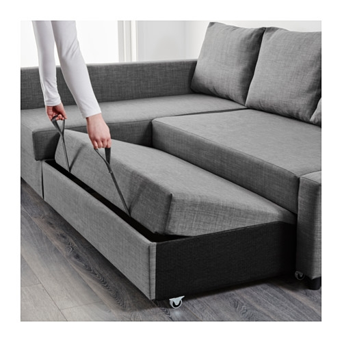 Friheten Corner Sofa Bed With Storage Skiftebo Dark Grey Ikea good with regard to Corner Sofa Bed With Storage Ikea (Image 14 of 20)