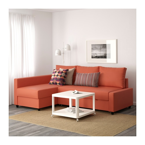 Friheten Corner Sofa Bed With Storage Skiftebo Dark Orange Ikea Properly In Orange IKEA Sofas (View 6 of 20)