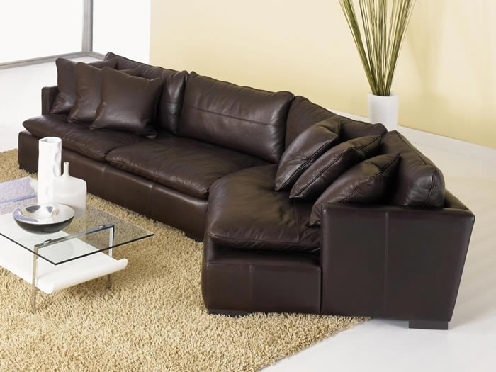 Full Grain Leather Sofa Oakwood Mobile Homes well with Full Grain Leather Sofas (Image 10 of 20)