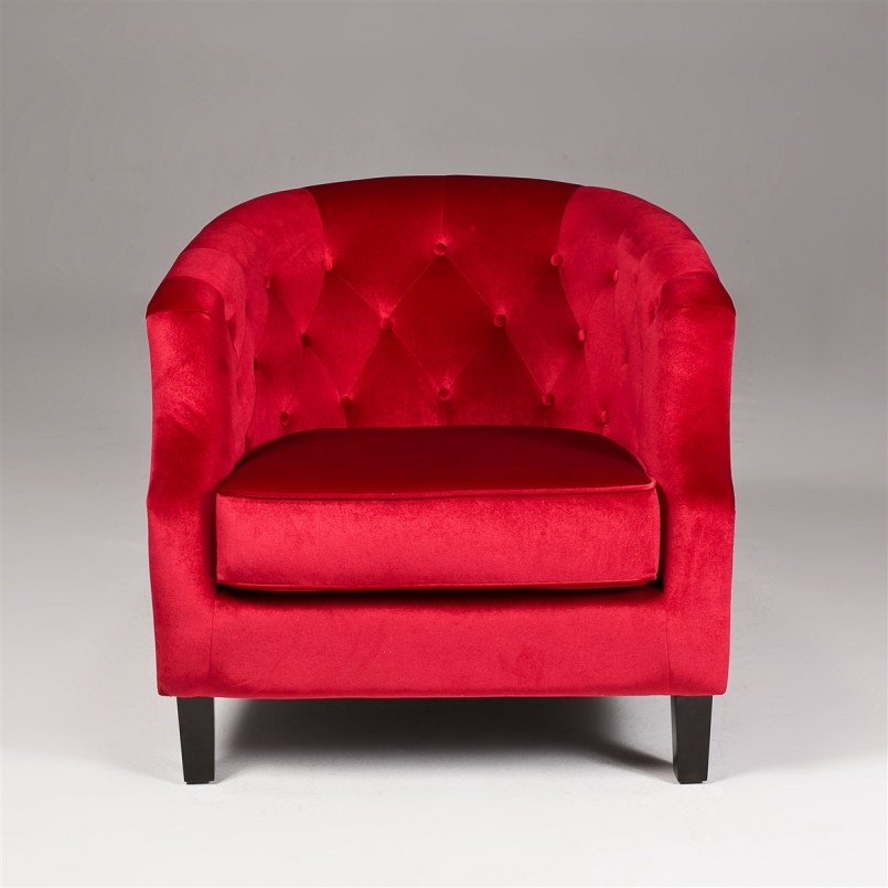 Funiture Grey Fabric Upholstered Armless Accent Chairs With Red good inside Red Sofa Chairs (Image 7 of 20)