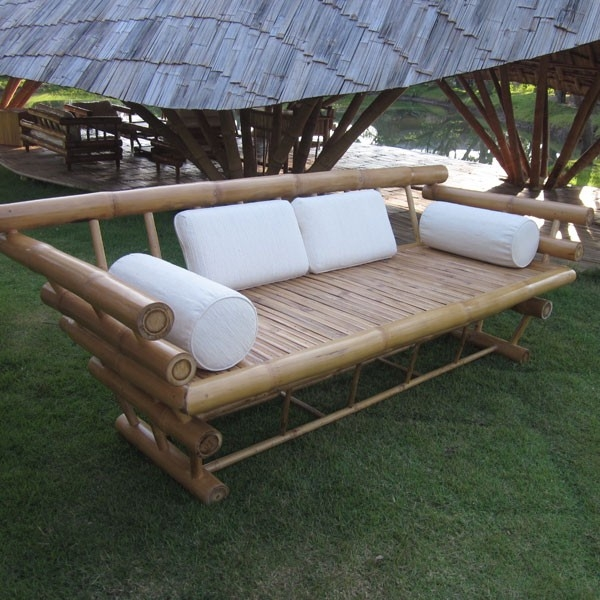 Furniture Bamboo Sofa Pinterest most certainly within Bambo Sofas (Image 16 of 20)