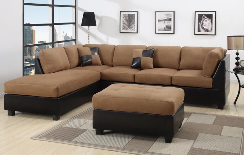Furniture Best Microfiber Cheap Sectional Couch With Tufted Clearly With Cheap Tufted Sofas (View 8 of 20)