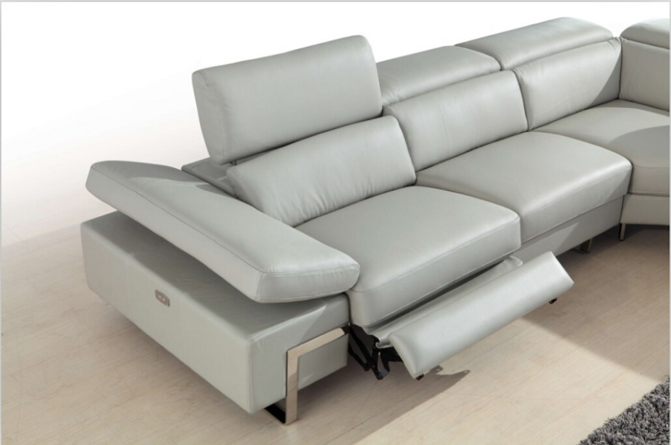 Furniture Modern Grey Fabric Reclining Loveseat Sofa On Grey most certainly regarding Modern Reclining Leather Sofas (Image 9 of 20)