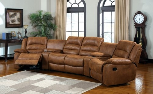 Furniture Of America Camden 4 Piece Sectional Sofa With Recliners Good Intended For 10 Piece Sectional Sofa (View 9 of 20)