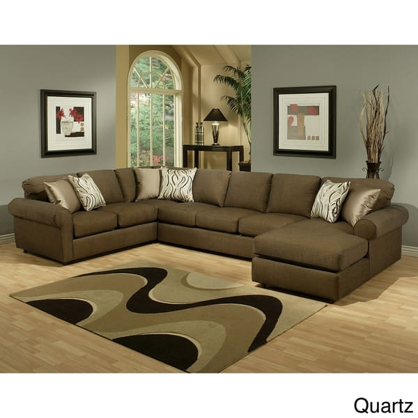 Popular Photo of Chenille Sectional Sofas