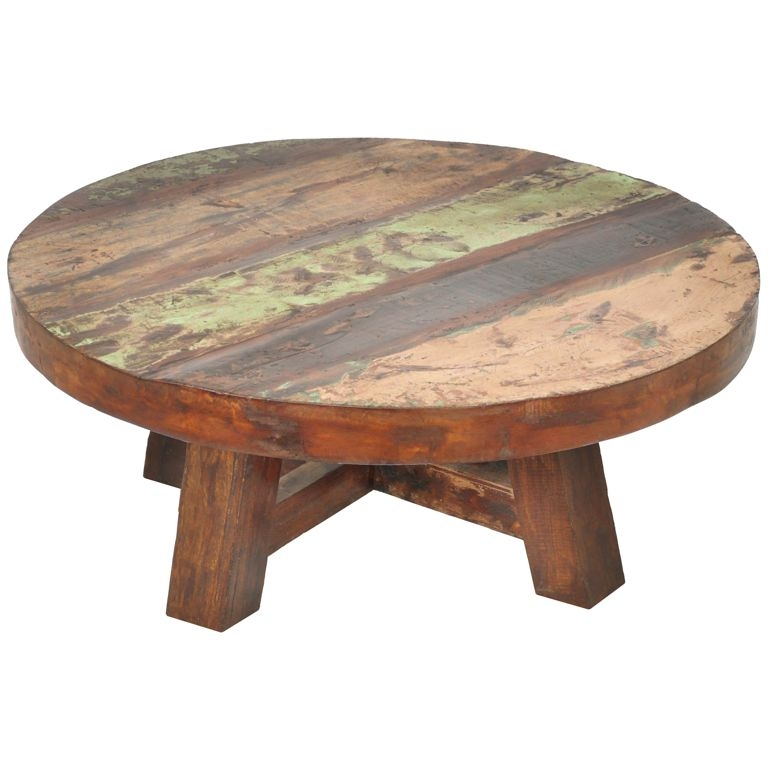 Furniture Vintage Round Coffee Table Design Ideas With Small properly intended for Small Wood Coffee Tables (Image 8 of 20)