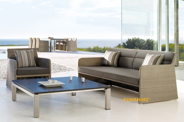 Garden Lounge Sofa Outdoor Furnituremodern Rattan Furniture Perfectly Throughout Modern Rattan Sofas (View 6 of 20)