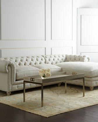 Gaysler White Latte Sofa good throughout Tufted Linen Sofas (Image 9 of 20)