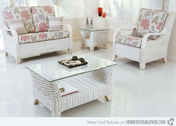Get The Classic Charm Of 15 White Wicker Furniture Home Design Lover definitely for White Cane Sofas (Image 13 of 20)