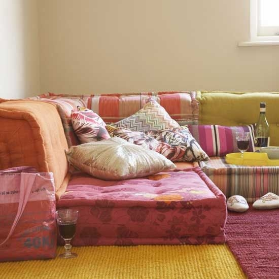 Get The Look Bohemian Floor Cushions Finding Euphoria Blog clearly regarding Floor Cushion Sofas (Image 13 of 20)