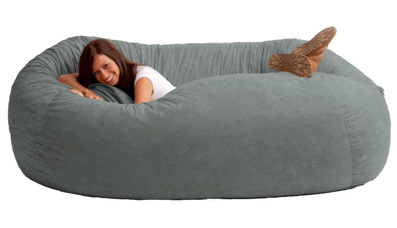 Giant Bean Bag Sofa Dudeiwantthat perfectly with regard to Bean Bag Sofas And Chairs (Image 17 of 20)