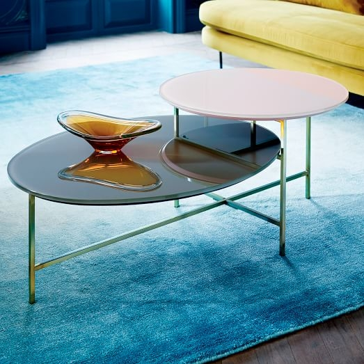 Glass Geo Stepped Coffee Table West Elm nicely pertaining to C Coffee Tables (Image 14 of 20)