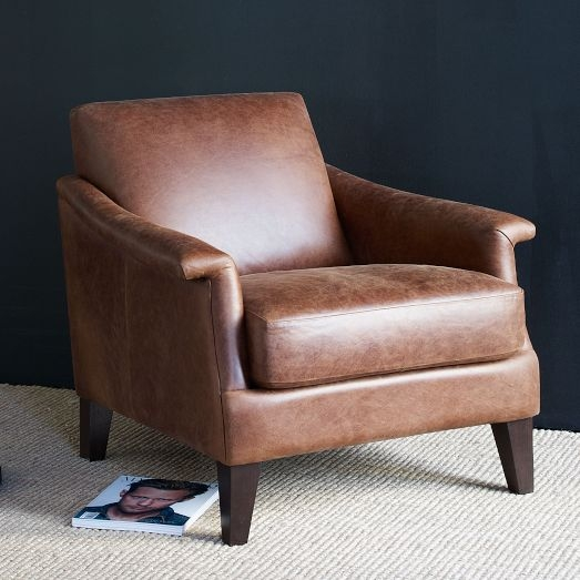 Gorgeous Leather Armchair In A Modern But Classic Look Love This well within Compact Armchairs (Image 13 of 20)