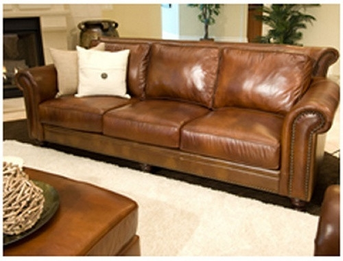 Great Full Grain Leather Sofa Full Aniline Leather Sofa Home And perfectly with Full Grain Leather Sofas (Image 11 of 20)