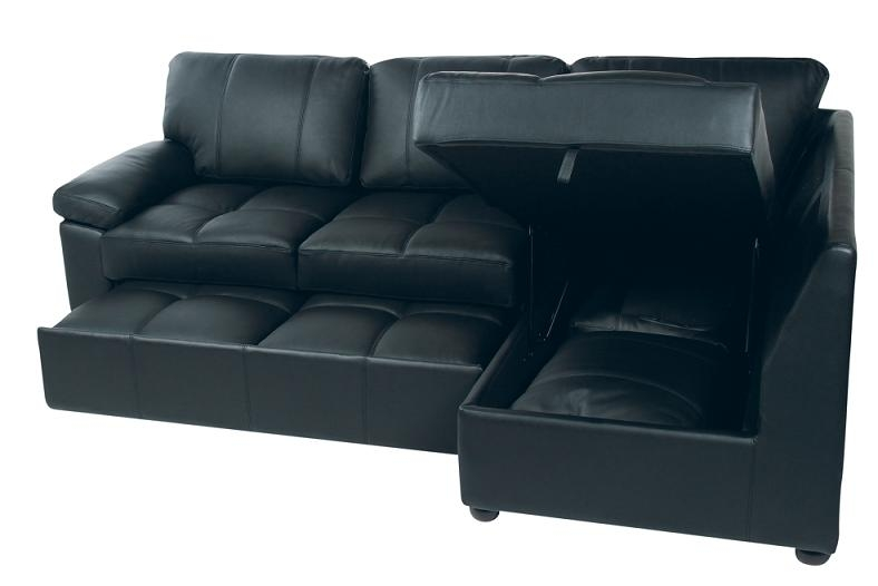 Great Leather Sofa Bed With Storage With Leather Sofa Bed With very well pertaining to Leather Sofa Beds With Storage (Image 14 of 20)