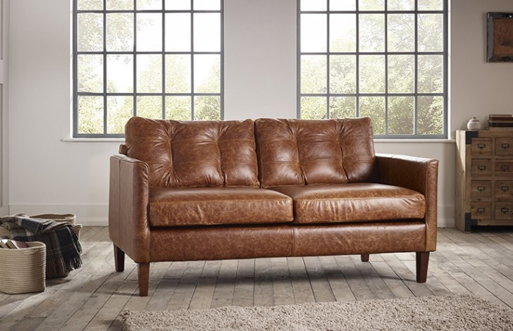 Great Small Leather Sofa Cromer Small Leather Sofa The definitely inside Small Chesterfield Sofas (Image 15 of 20)