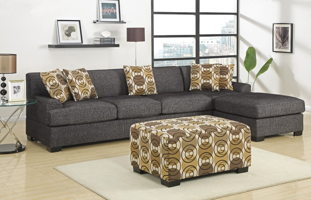 Grey Fabric L Shape Sofa very well with regard to L Shaped Fabric Sofas (Image 7 of 20)