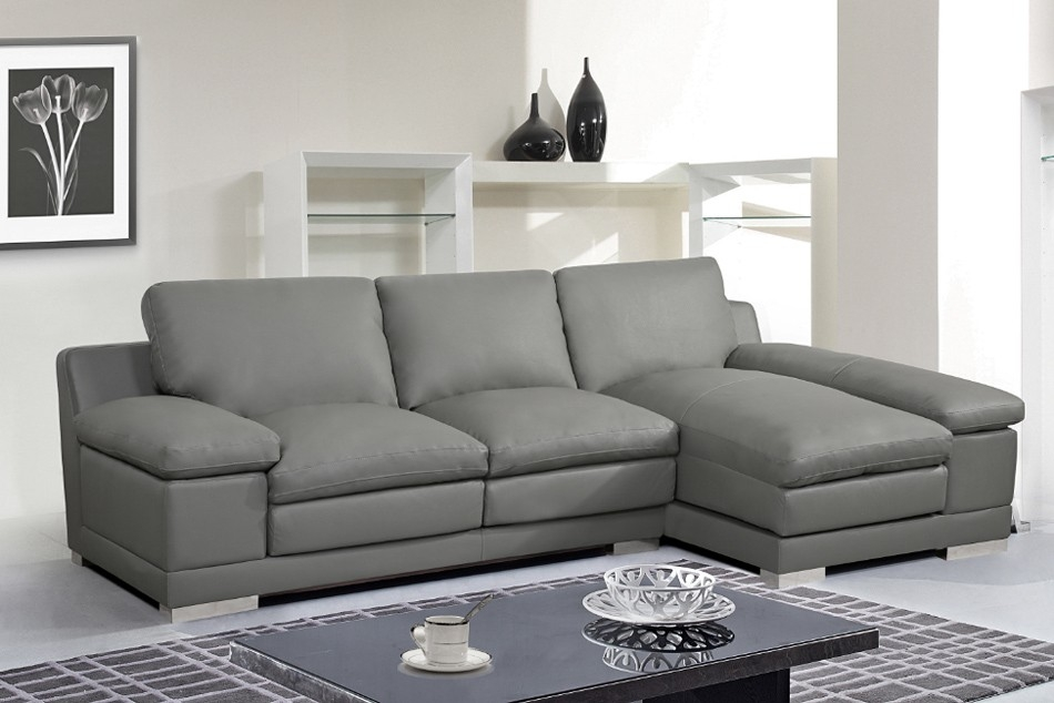 Grey Leather Sectional Sofa clearly in Gray Leather Sectional Sofas (Image 6 of 20)