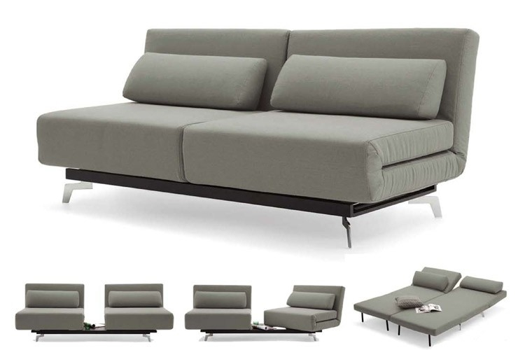 Grey Modern Futon Sofabed Sleeper Apollo Couch Futon The Futon good with regard to Sofa Bed Sleepers (Image 11 of 20)