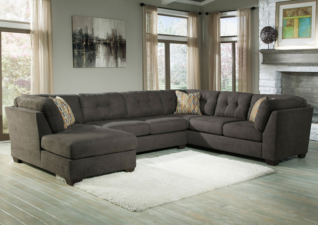 Harlem Furniture Delta City Steel Left Arm Facing Corner Chaise nicely for City Sofa Beds (Image 8 of 20)