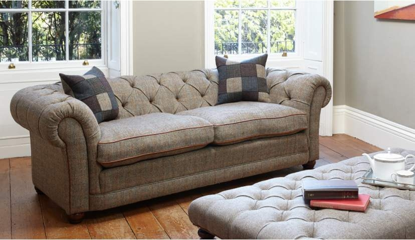 Harris Tweed Orkney Sofa Sofas Darlings Of Chelsea good with regard to Tweed Fabric Sofas (Image 10 of 20)