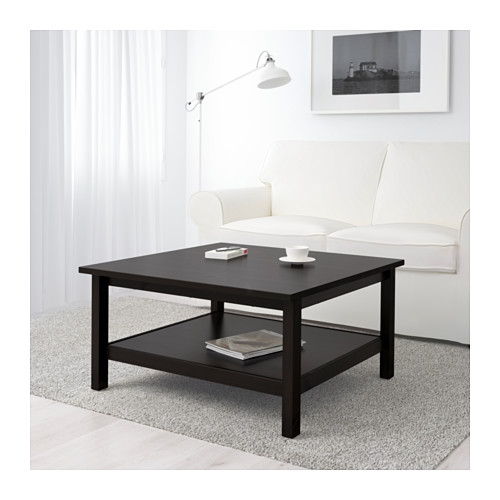 Hemnes Coffee Table Black Brown Ikea very well with Square Black Coffee Tables (Image 16 of 20)