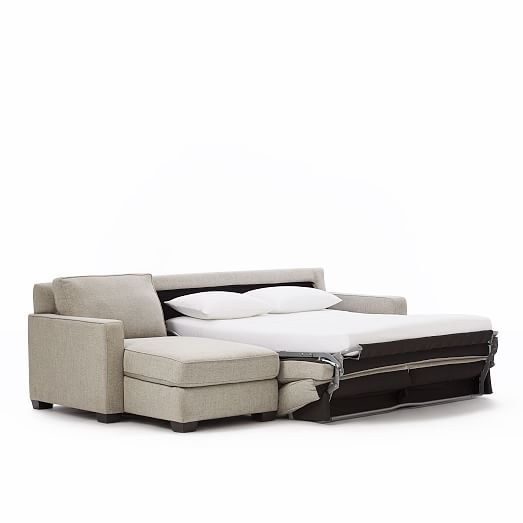 Henry 2 Piece Pull Down Full Sleeper Sectional W Storage West Elm well throughout Sectional Sleeper Sofas With Chaise (Image 14 of 20)