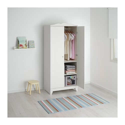 Hensvik Wardrobe White 75x174 Cm Ikea most certainly with regard to Double Rail Childrens Wardrobes (Image 20 of 30)