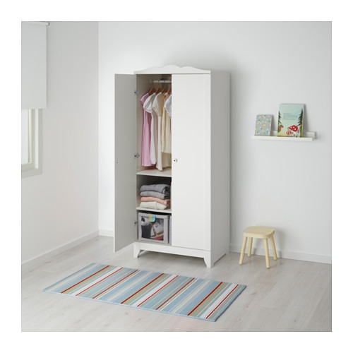Hensvik Wardrobe White 75x174 Cm Ikea very well within Childrens Double Rail Wardrobes (Image 19 of 20)