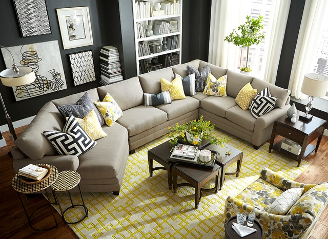 Hgtv Home Design Studio Cu2 Left Cuddler Sectional Bassett clearly with regard to Bassett Sectional Sofa (Image 13 of 20)