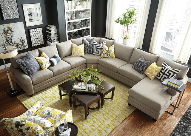 Hgtv Home Design Studio Cu2 U Shaped Sectional Bassett very well throughout Bassett Sectional Sofa (Image 14 of 20)