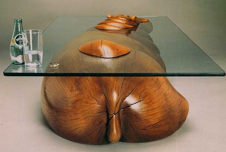Hippo Table Derek Pearce Sable Ox certainly throughout Unusual Glass Coffee Tables UK (Image 28 of 30)