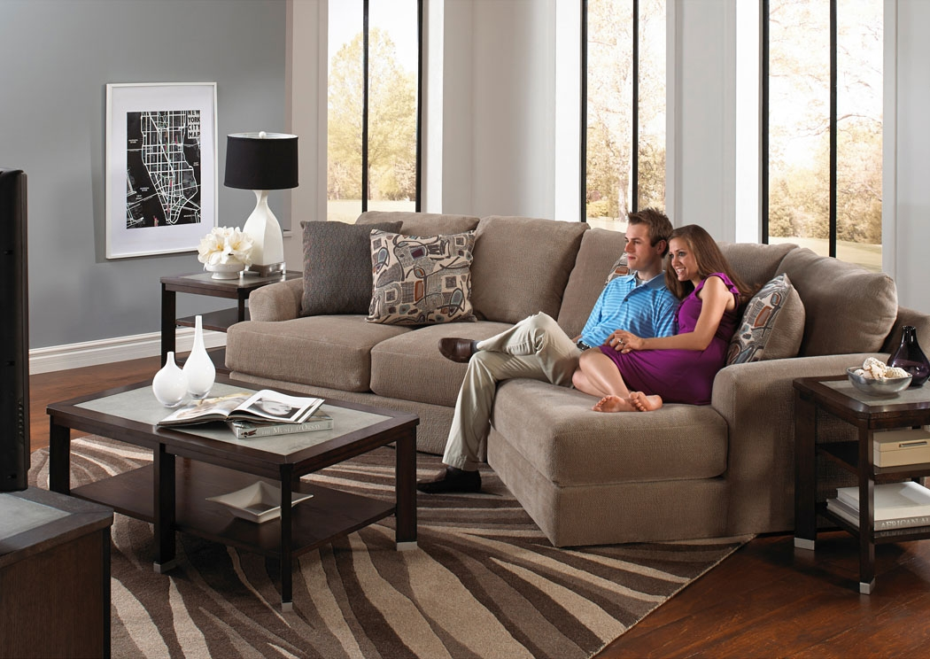 Home Trends Furniture Rocky Mount Nc Malibu Taupe Small Angled perfectly in Angled Sofa Sectional (Image 9 of 20)
