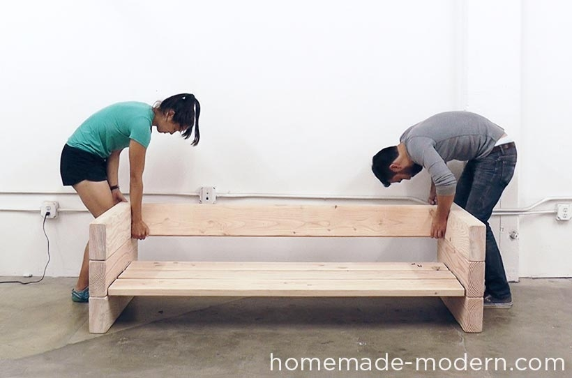 Homemade Modern Diy Ep70 Outdoor Sofa Step 7 Ydi Pinterest perfectly in Diy Sofa Frame (Image 13 of 20)