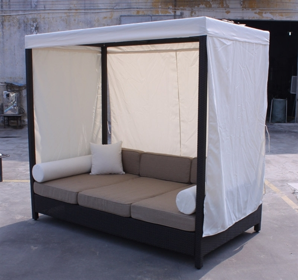 Household Gallery Daybed Sofa With Canopy effectively intended for Outdoor Sofas With Canopy (Image 11 of 20)