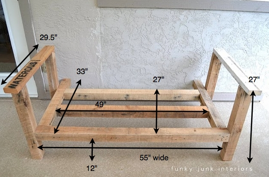 How I Built The Pallet Wood Sofa Part 2funky Junk Interiors very well with regard to Diy Sofa Frame (Image 14 of 20)