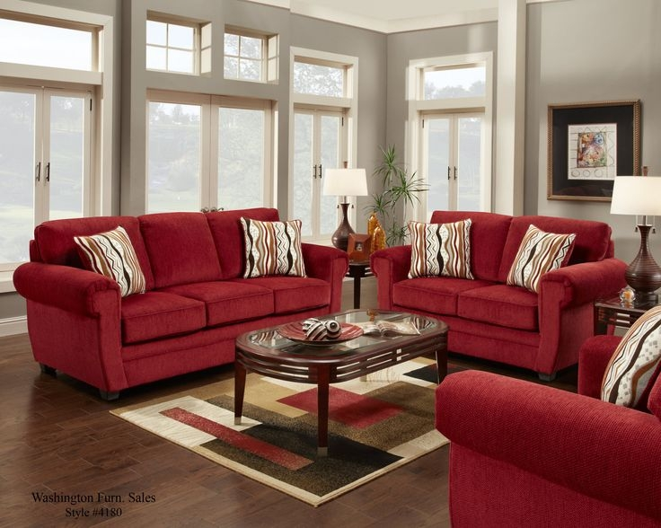 How To Decorate With A Red Couch Google Search New House very well with Red Sofa Chairs (Image 9 of 20)