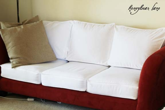 How To Make A Cushion Cover And Other Slipcover Tutorials Good With Sofa Settee Covers (View 12 of 20)