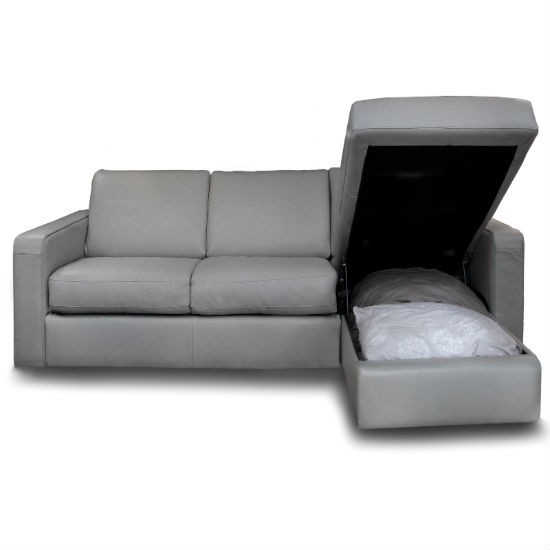 How To Select The Appealing Cushions Sofa Bed With Chaise most certainly with regard to Leather Sofa Beds With Storage (Image 15 of 20)