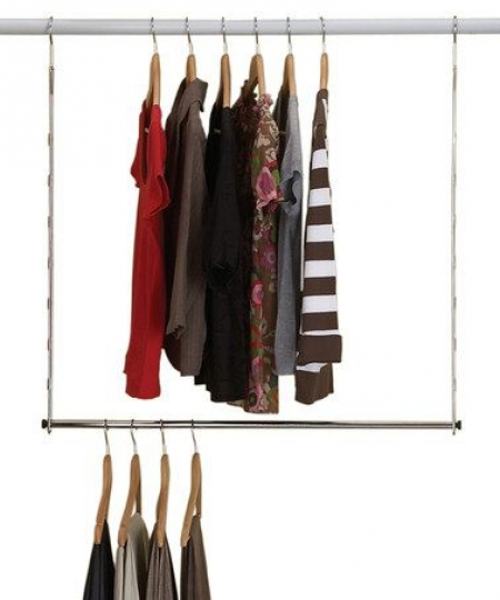 Howards Storage World Wardrobe Double Hang clearly within Double Hanging Rail for Wardrobe (Image 12 of 30)