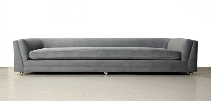 Huge Rare 10ft Mid Century Modern Long Low Sofa With Rounded Back good regarding Long Modern Sofas (Image 12 of 20)