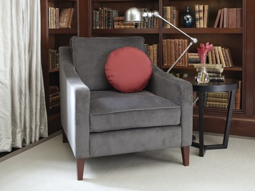 Iggy Armchair In Corduroy Mouse 760 Httpwwwsofashop perfectly throughout Sofa Arm Chairs (Image 15 of 20)