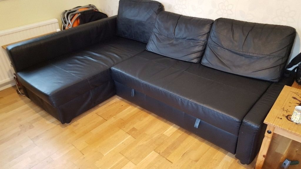 Ikea Friheten Corner Sofa Bed With Storage Bomstad Black In most certainly for Corner Sofa Bed With Storage Ikea (Image 16 of 20)