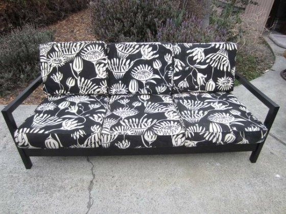 Ikea Lillberg 3 Seat Sofa Black White good with regard to Lillberg Sofa Covers (Image 8 of 20)