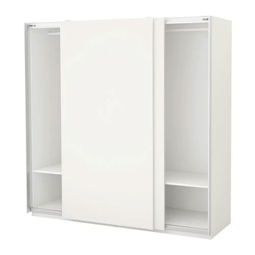 Ikea Pax Wardrobes With Shelves And Hanging Rails White In certainly inside Wardrobes With Shelves  (Image 14 of 20)